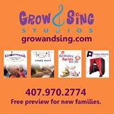 Grow and Sing Studios Craft Parties